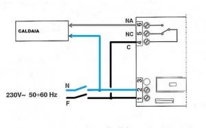 Collegamenti elettrici tra un termostato ed una caldaia - Montaggio scaldabagno elettrico ...