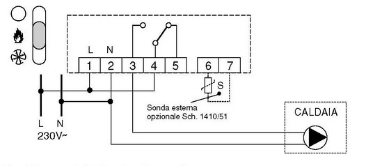 Schema Elettrico Opel Agila 2001 : Schema elettrico collegamento termostato caldaia il