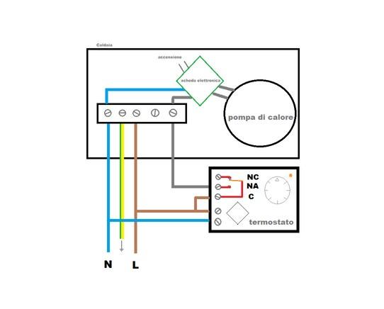 Schema Elettrico Elettrovalvola : Collegamenti elettrici tra un termostato ed una caldaia