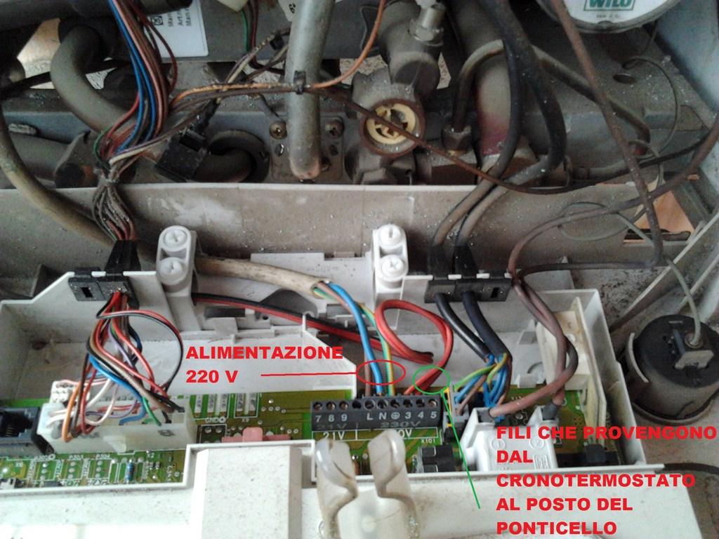 Schema Collegamento Di Termostati A Elettrovalvole E Caldaia : Collegamenti elettrici tra un termostato ed una caldaia