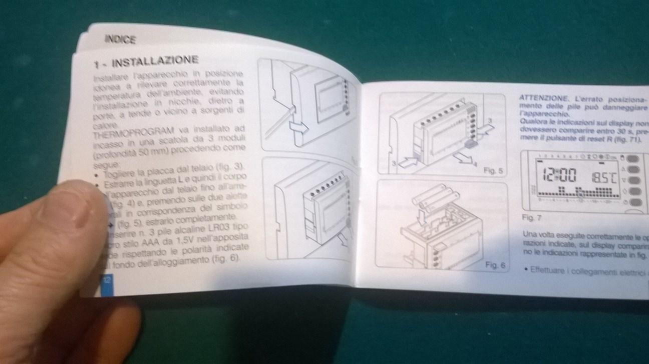 Miglior cronotermostato digitale da incasso fai da te for Cronotermostato vimar 01910 manuale istruzioni